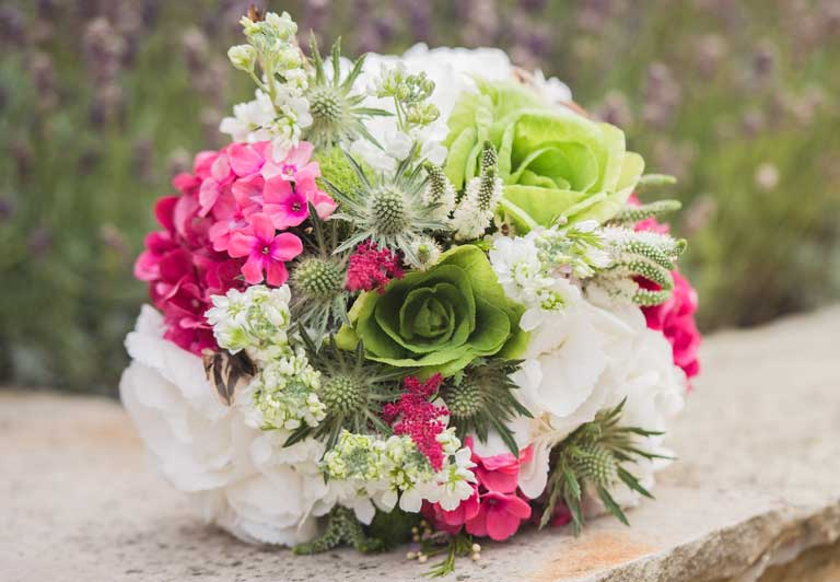 Bridal bouquet by Sophie's Flower Shop