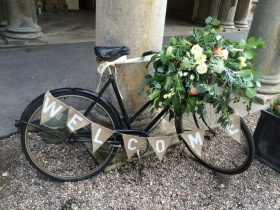 flowers wedding amnesia rose rustic vintage british sophies flower co bicycle