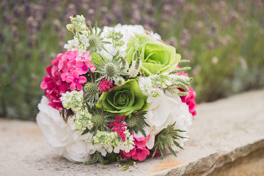 Cerise wedding bouquet