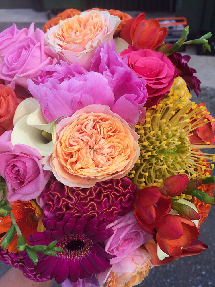 Bridght wedding flowers
