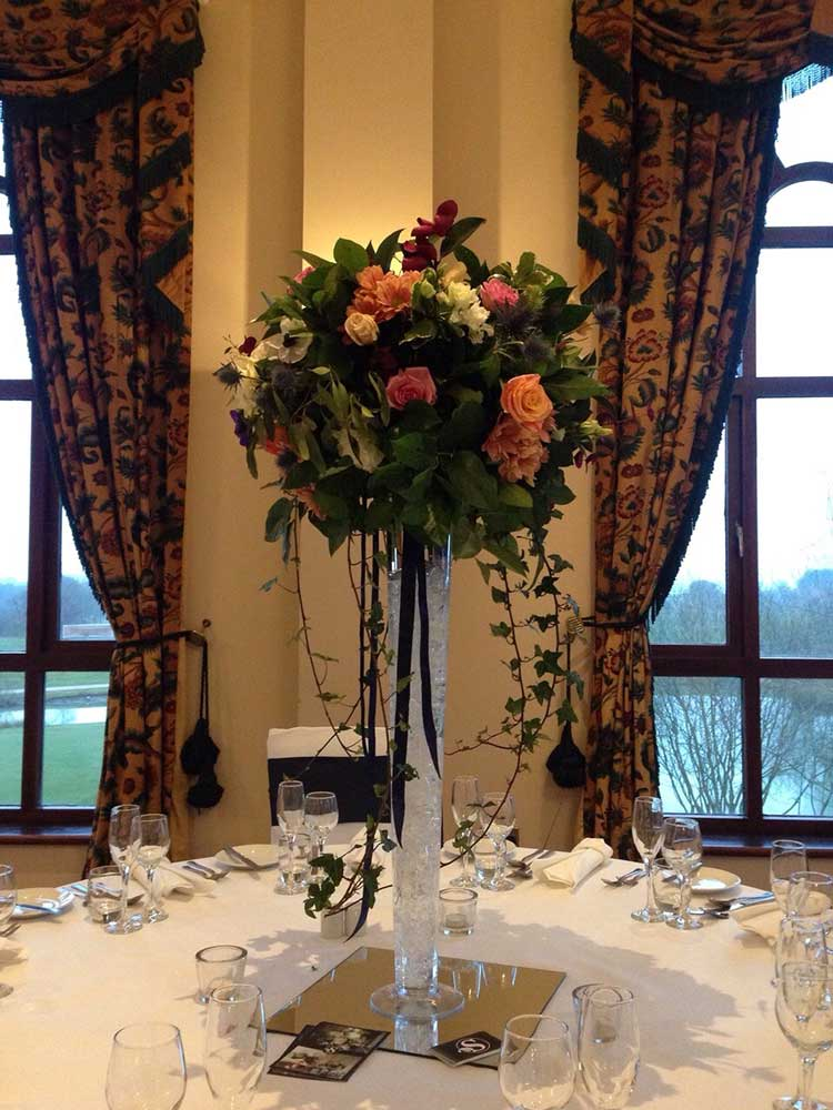 Reception flowers - tall in vase